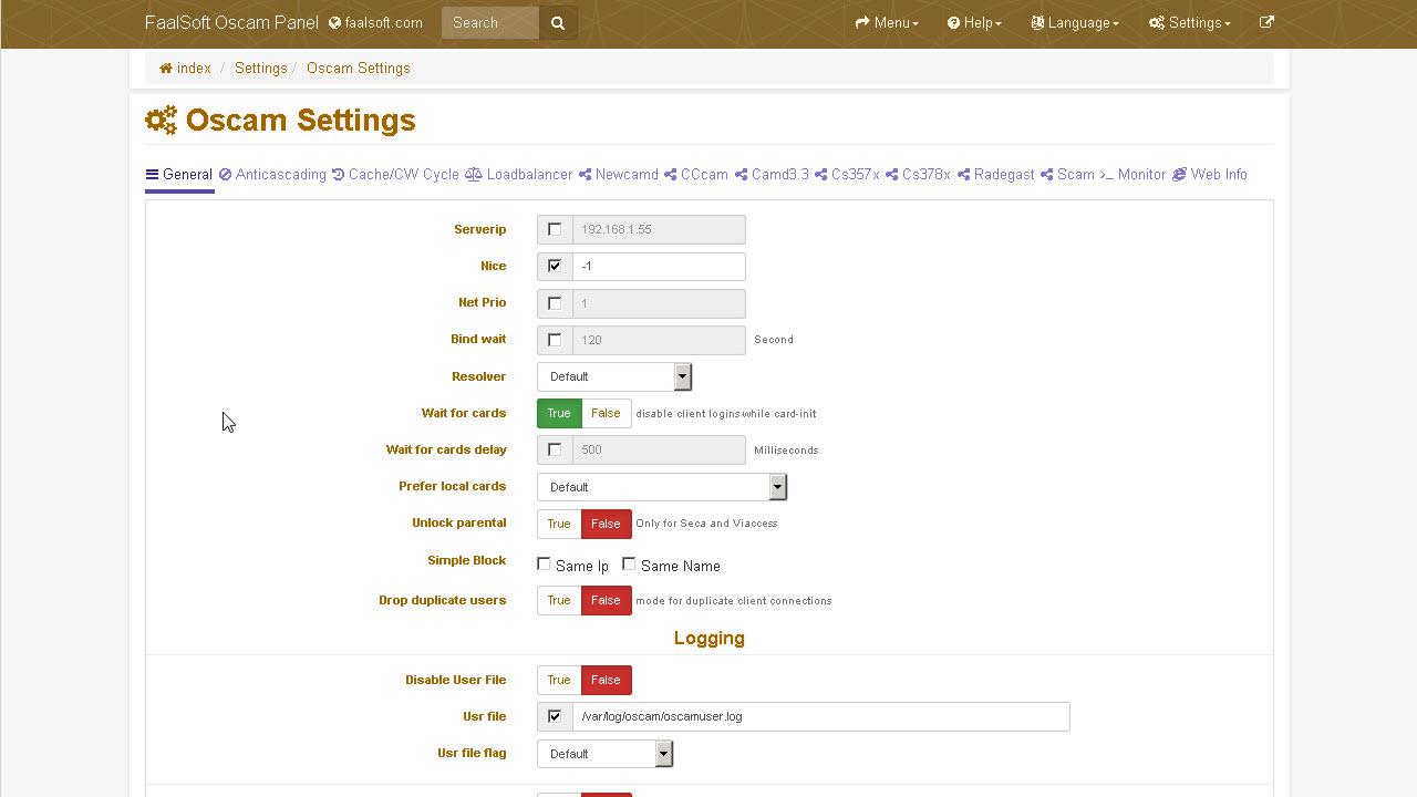 Oscam Panel - FaalSoft